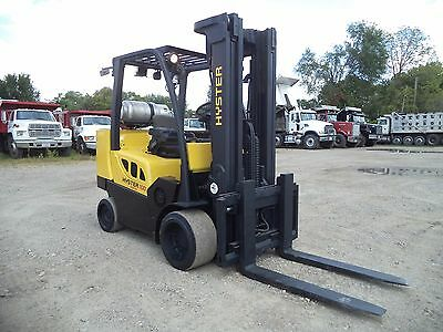 2009 Hyster S100FT-BCS, 10,000#, 10000# Cushion Tired Forklift, LPG Powered