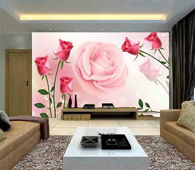 Popular Rich Roses 3D Full Wall Mural Photo Wallpaper Printing Home Kids Decor