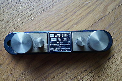 1 Vintage MILITARY GRADE Weston Electric 1 Amp Shunt, Near mint condition !!