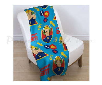 Fireman Sam Brave Fleece Blanket Throw Boys New Gift