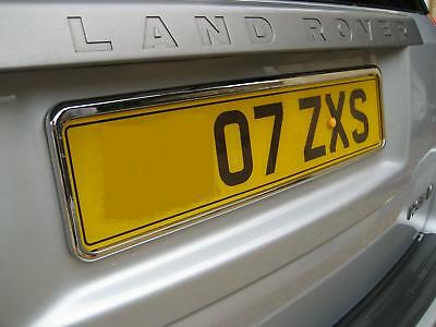 Pair of Chrome number plate surrounds frames for Land Rover Freelander 2 LR2 NEW