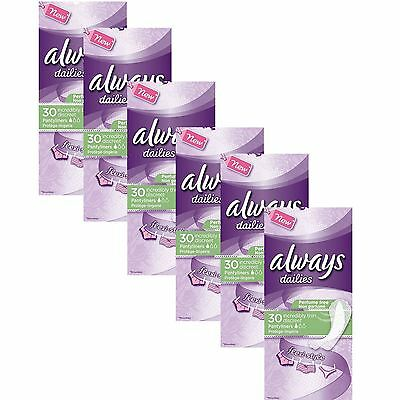 Always Dailies Womens Panty Liners Incredibly Thin Discreet Flexi Style 180 Pack