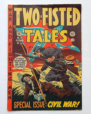 Two-Fisted Tales Special Civil War Issue #35 by EC (October 1953) VG