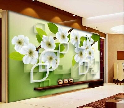 Fruent Pear Flower 3D Full Wall Mural Photo Wallpaper Printing Home Kids Decor
