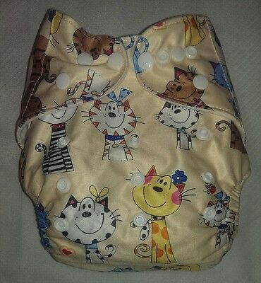 New Kitten Pocket Cloth Diaper Nappy Reusable Washable Adjustable Eco Friendly