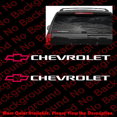 LARGE BOWTIE Chevy Chevrolet Silverado Car Window//DIE CUT Vinyl Decal RC098