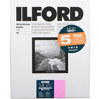 "Ilford Multigrade IV RC Deluxe Paper, 8 X 10"" Glossy Surface, 30 Sheets, 1178274"