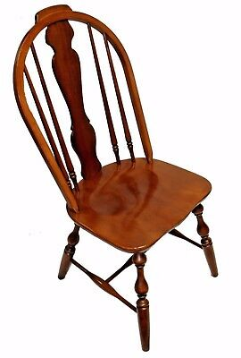 Solid Black Cherry Hand-Sawn Sack-Back Windsor Chair