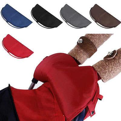 Windproof Button Fleece Muff Gloves Hand Warmer For Baby Stroller Pushchair Pram