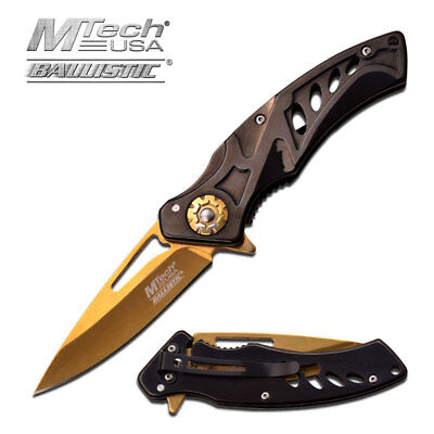 MTECH USA Spring Assisted Tactical Ballistic EDC Folding Pocket Knife MT-A917BG