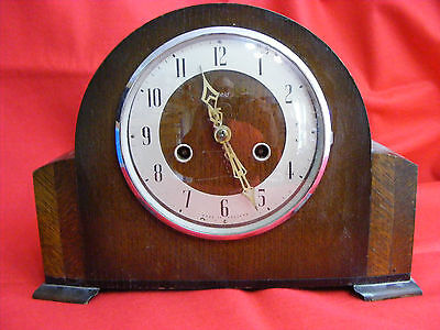 Enfield Mantle Clock London 1920's or 1930's Art Nouveau,Art Deco,Collectable.
