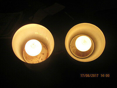(2) Vtg Mid Century Modern Cylinder Adjustable Wall Sconce Or Ceiling Lights