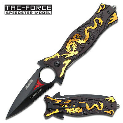 TAC-FORCE Spring Assisted EDC Tactical Folding Rescue Pocket Knife NEW TF-707GD