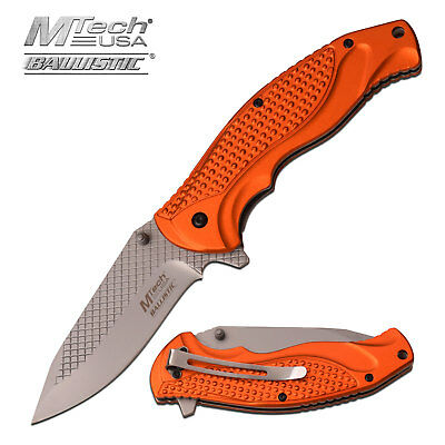 MTECH USA Spring Assisted Tactical Ballistic EDC Folding Pocket Knife MT-A948OR
