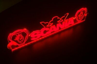 24V Red LED Cabin Interior Light Plate for Scania Griffins & Crown Neon Sign