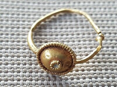 Beautiful very rare Ancient! Roman solid gold earring found in York 1972 L29b