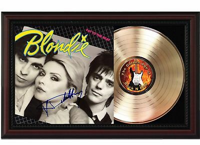 Blondie - 24k Gold LP Record With Reprinted Autographs In Cherry Wood Frame