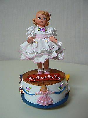 Madame Alexander RING AROUND THE ROSY MUSICAL Figurine New #90480 Wind Up Base