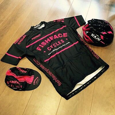 Fishface Cycles Short Sleeve Jersey Nero/Fuschia