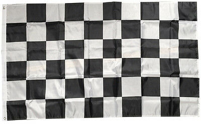 "3""X5"" FOOT NASCAR BW Black And White CHECKERED CHECKER RACING BANNER FLAG"