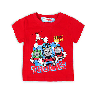 New Kids Thomas and Friends The Tank Engine T-Shirt Short Sleeves Top Cotton