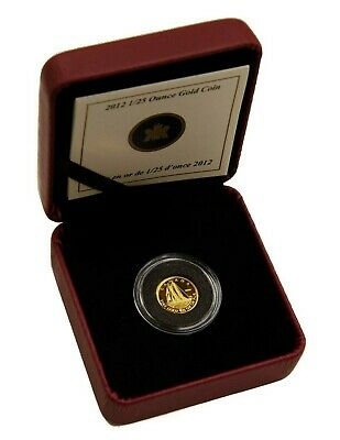 2012 Canada 50-Cent Bluenose 1/25 oz .9999 Pure Gold Coin Royal Canadian Mint