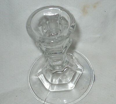 "Crisa taper candle stick holder. 4"" height. New w/ tags. Clear. Glass."