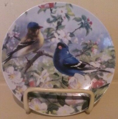 Bird and Flower Decorative Hanging Plate