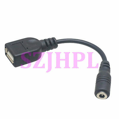 USB Female Jack To 3.5x1.35mm Female DC Tip Power Cable Adapter Converter CCTV