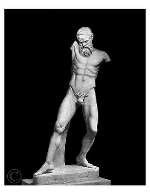 "Marsyas by Myron classic sculpture Optimized antique photograph reprint 8""x 10"""