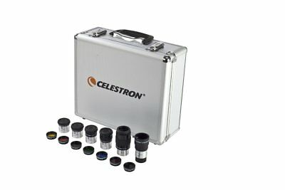 "Celestron 1.25"" Eyepiece and Filer Kit 94303 - Includes 14 accessories and case!"