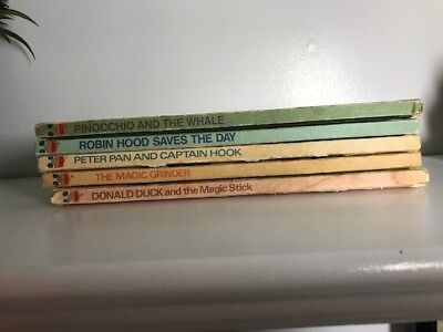Vintage lot of 5 Walt Disney Hardcover Books
