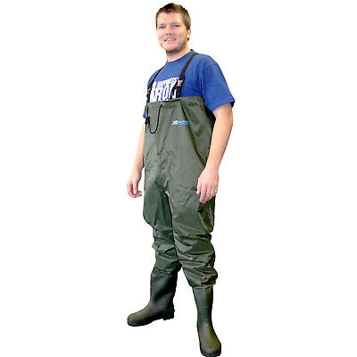 New Shakespeare X-Tackle PVC Nylon Chest Waders Size - 8 PF1144107