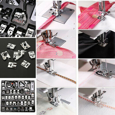 Pro 42/32pcs Sewing Machine Presser Foot Feet for Brother Singer Toyota Janome