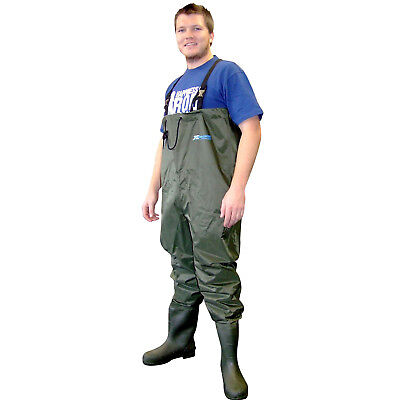 New Shakespeare X-Tackle PVC Nylon Chest Waders Size - 11 PF1144110
