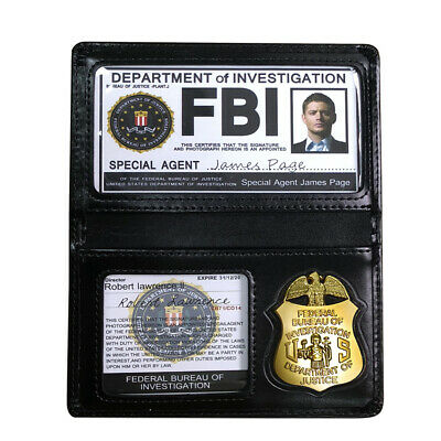 Supernatural Dean Federal FBI Badges ID Cards Holder Chain Cosplay Collection