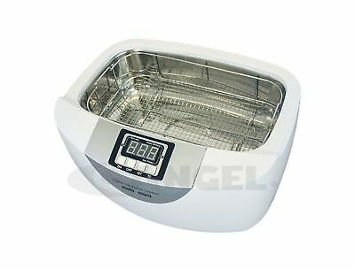 Ultrasonic Cleaner with Stainless Steel Basket 2.5 Liter Tank with 160W Heated