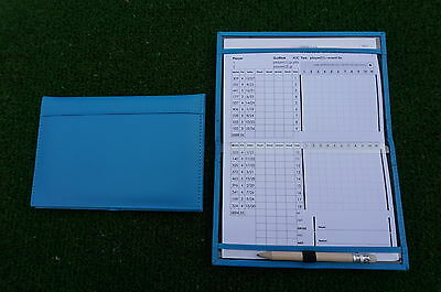 Miclub A5 Std Blue leather golf scorecard holder - Original and still the Best