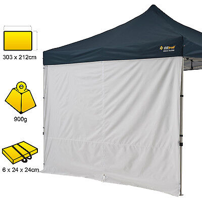 New OZtrail 3.0 Deluxe 3m Solid Wall Kit with Centre Zip Gazebo OZTMPGW-30SC-C