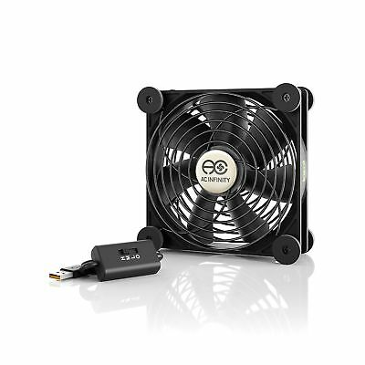 AC Infinity MULTIFAN S3 Quiet 120mm USB Fan for Receiver DVR Playstation Xbox...