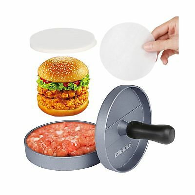 GWHOLE Non-stick Hamburger Press with 100 Wax Discs Ideal for BBQ Lifetime Wa...