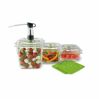 FoodSaver FA3SC358T2-033 Fresh Container 3-Piece Bundle Plus 2 Trays Clear