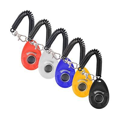 Dog Training Clicker with Wrist Strap Olycism 5pcs Big Button Pet Training Cl...
