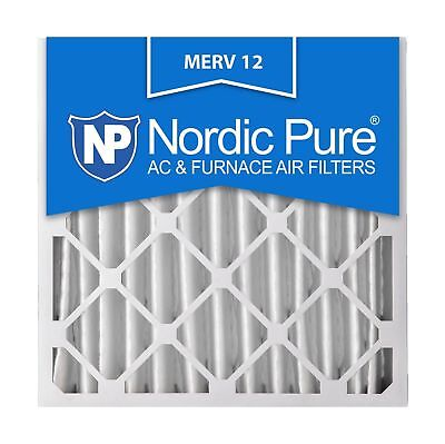 Nordic Pure 20x20x4 AC Furnace Air Filters MERV 12 Box of 2