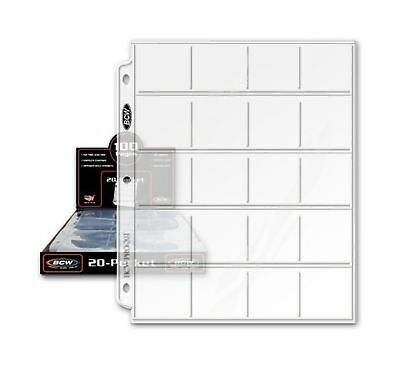 20 (Twenty) - BCW Pro 20-Pocket Coin Storage Page - Coin Collecting Supplies