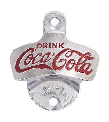 TableCraft Products Coca Cola Cast Metal Wall Mount Stationary Bottle Opener 1