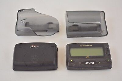 Lot 2 Motorola SkyTel Flex + Talkabout Pager Beeper With Belt Clip Working Retro