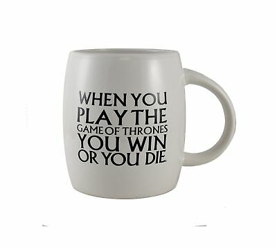 Game of Thrones 871001002757 15-Ounce You Win or You Die Mug White