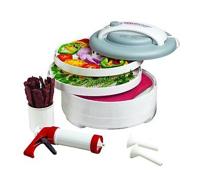 Nesco FD-61WHC Snackmaster Express Food Dehydrator All-In-One Kit with Jerky ...
