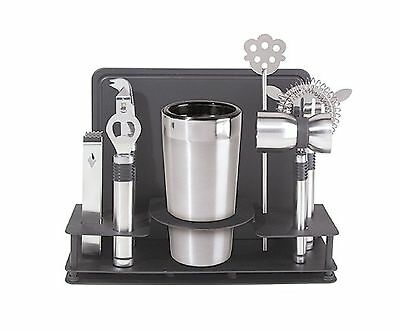 Oggi Pro Stainless Steel Cocktail Shaker and Bar Tool Set 10-Piece